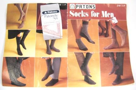 patons leaflet and yarn label