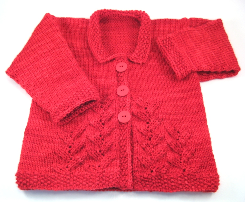 provence baby cardigan finished