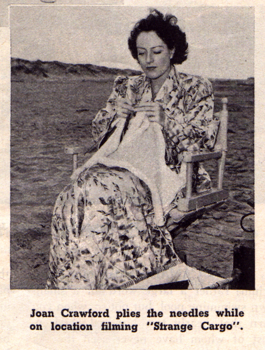 Joan Crawford Knitting