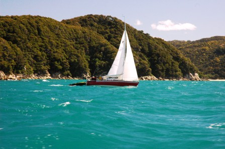 sailboat in Abel Tasman