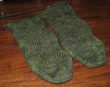 don's latest green socks