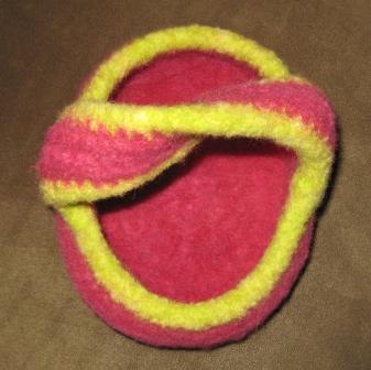 mobius basket - top view