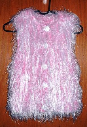 elizabeth's fur vest