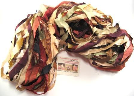 reclaimed silk ribbon yarn